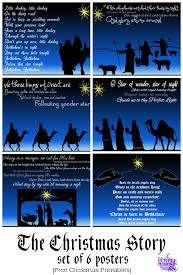 the christmas story set of 6 posters free printables free
