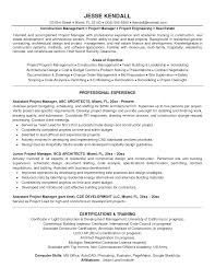 Technical Program Manager Resume Construction Contractor Resume Building Maintenance Job