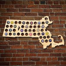 Beer Map Usa by Massachusetts Beer Cap Map Engravable Made In Usa Ma Beer