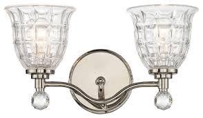 Traditional Bathroom Vanity Lights Savoy House Birone Light Polished Nickel Traditional Bathroom