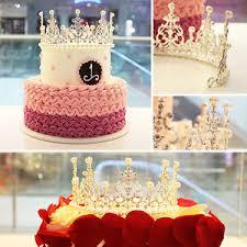 birthday cake pearl rhinestone crown decorating bride tiaras party