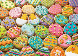 easter cookies pieces 350 easter cookies jigsaw puzzle item 54600 cobble hill