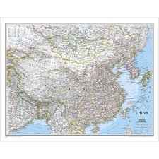 Geographical Map Of China by China Classic Wall Map National Geographic Store