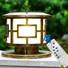 newest design solar power led post lights remote led