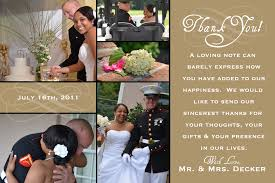 thank you cards wedding wedding thank you decker
