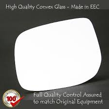 toyota yaris wing mirror glass toyota yaris wing mirror glass silver nonheated base left side