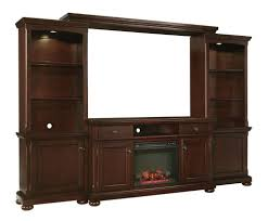 Media Center With Fireplace by Porter Rustic Brown Extra Large Entertainment Center With