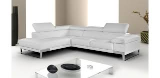 White Sectional Sofa With Chaise Italian Leather White Sectional By Nicoletti