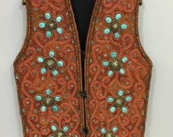 Tibetan Home Decor Red Wool Vest Etsy