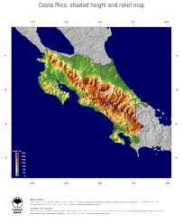 Map Costa Rica Costa Rica Topographic Map Topographic Map