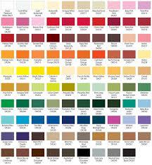 paint color list ideas kwal color paint chart home design