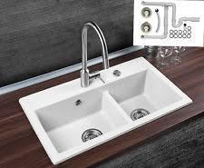 spüle küche 2 becken bad küche spülen für ohne abtropffläche ebay