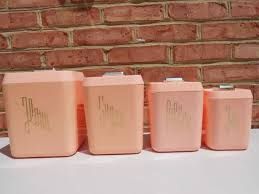 pink kitchen canister set 125 best pink canisters images on vintage canisters