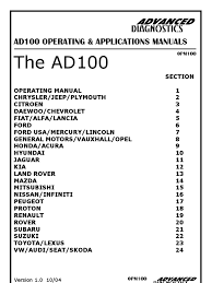 master ad 100 manual dodge electrical connector