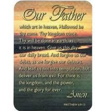 pkg 10 our lord s prayer kjv christian pocket cards