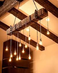 rustic beam light fixture rustic beam chandelier
