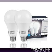 Led Light Bulbs 100w Equivalent by Torchstar Led Dimmable 100w Equivalent A21 Bulb Energy Star Ul
