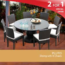 Dining Room Table Kits 60 Inch Round Patio Table Outdoor Wicker Dining Table