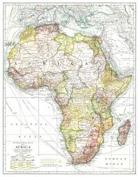Nat Geo Maps National Geographic Map Of Africa 1909 Vivid Maps