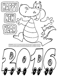 coloring new years coloring sheet
