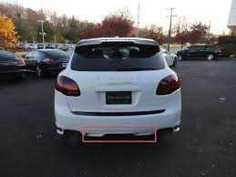 porsche cayenne trailer hitch cayenne rear valance difference sportdesign package gts