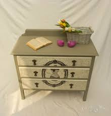 vintage shabby chic chest of drawers with print no 02 touch the