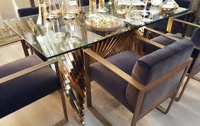 brass glass dining table ludlow brass glass top dining table furniture la maison chic