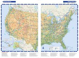 Large Scale Map Rand Mcnally 2016 Road Atlas United States Large Scale Rand