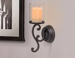 Flameless Candle Wall Sconce Candle Impressions Flameless Candle Wall Sconces W Timer And