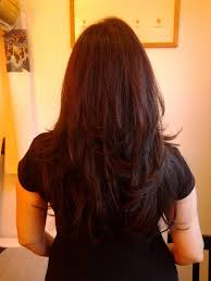 long layered haircut w auburn hightlights back jennifer l