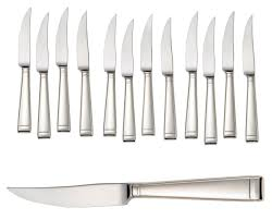 Prestige Kitchen Knives Deluxe Steak Knife Set With Sycamore Chest 12pc Liberty Tabletop