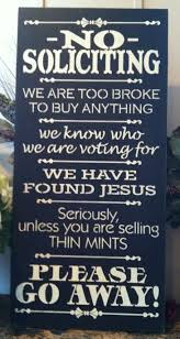 wood sign no soliciting large 12 x 24 front porch
