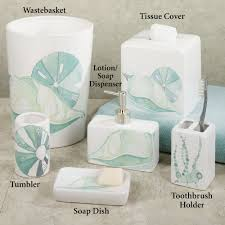 themed soap dispenser la mer ceramic coastal bath accessories