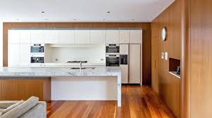 white bench top and cabinets joinery kitchen archiblox