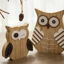 owl decorations for home bomarolan figur owl shaped figurine wooden figurine rabbit shaped