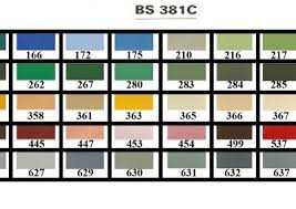 paint colour charts ral colours british standard bs 4800