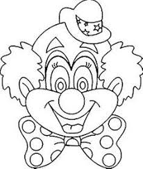 coloring page glamorous clown mask template clowns coloring page