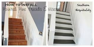 Cost To Decorate Hall Stairs And Landing Painted Stairs And Adding Runners Southern Hospitality