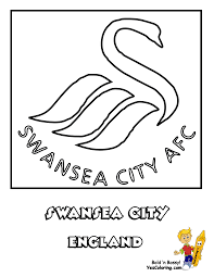 english soccer swansea city football coloring picture