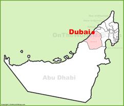map of the uae dubai maps uae maps of dubai