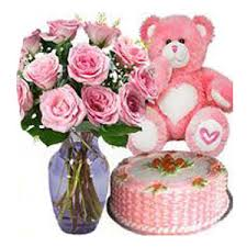 Flowers Delivered With Vase Flowers In A Vase Flowers To India Flowers With Vase Delivery In