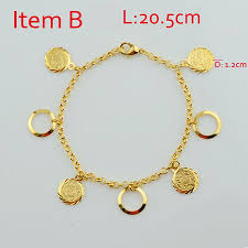 gold bracelet with charms images Gold bracelet with charms 18k gold plated muslim islamic charms jpg