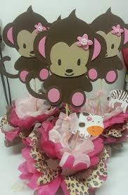 monkey decorations for baby shower girl monkey theme baby shower baby shower theme centerpieces