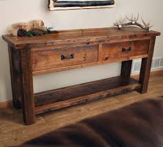 Entryway Table With Drawers Console Tables Entry Tables And Sofa Tables Throughout Rustic