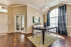 Contemporary Dining Room With Hardwood Floors  Carpet In Frisco - Carpet in dining room
