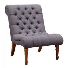 Tufted Accent Chair Tufted Armless Gray Accent Chair
