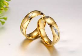 gold promise rings 18k gold plated cz promise rings for couples women and men new
