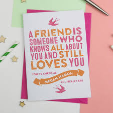 cards for friends best friend cards notonthehighstreet