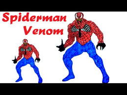 coloring pages spiderman venom learn colors kids