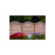 Curved Trellis Fence Panels Decorative Fence Panels With Curved Trellis Mm Gardens Services